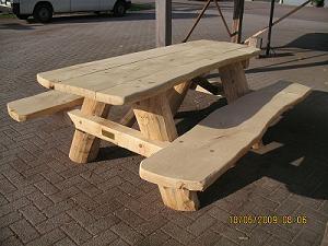 Eikenhouten picknicktafel